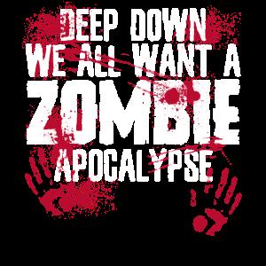 Zombie Zombee Zombie Apokalypse Halloween Kostüm
