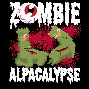 Zombie Alpaka Horror Halloween Kostüm