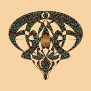 Jugendstil Art Nouveau Vintage Geschenk Beige
