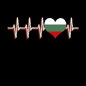 Bulgarien Flagge Puls Herzschlag Herz EKG Land
