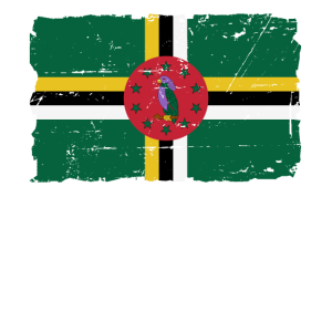 Dominica Flagge - Flag of Dominica - Shabby Look