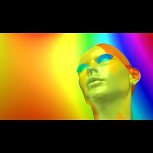 Virtueller Kopf einer Frau