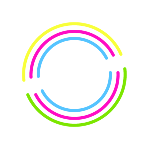 Buntes Gaming Herzschlag Logo