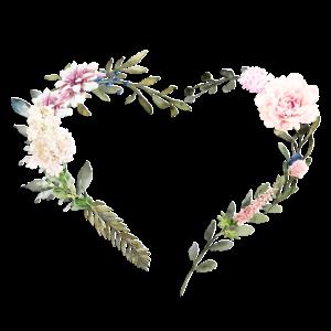 Blumen Herz personalisierbar