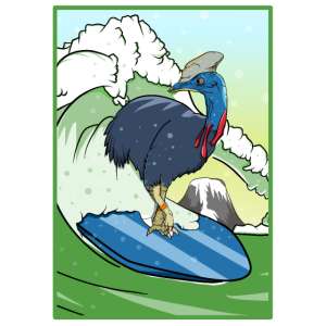 Bird Surfing