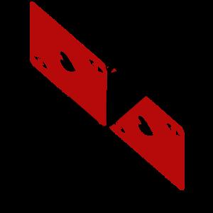 Herz As X schwarz rot