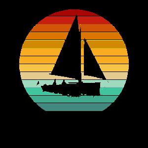 Vintage Segelboot Segler Segel Segeln Segelschiff