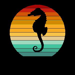 Seepferdchen Umweltschutz Vintage Frühschwimmer
