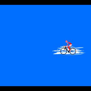 Radfahren   Grafik   Abbildung   Maske