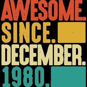 Dezember 1980 40 Geburtstag Vierzig Jahre Geschenk