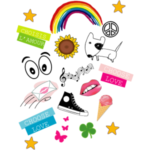 Choose Love Comic Cartoon Emoji
