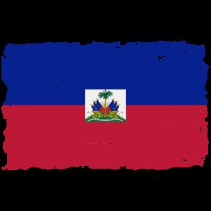 Haiti Flagge - Flag of Haiti - Shabby Look