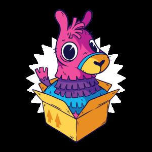 Lama in einer Box