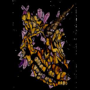 Gruseliges Kristall-Einhorn