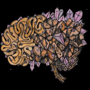 Farbe Kristall Gehirn