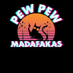 Pew Pew Madafakas Katze Vaporwave Glitch Geschenk