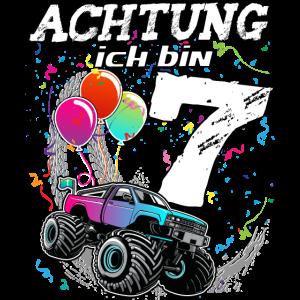 siebter Geburtstag 7 Jahre Monstertruck Geschenk
