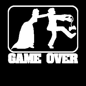 jga männer gaming game over party Lustig Gamer