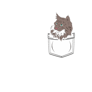 Katze Tasche Norweger Forest Cat Kitten Gift