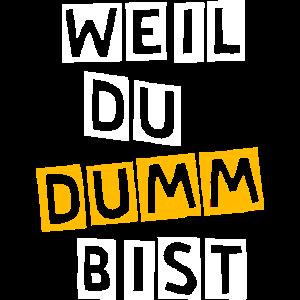 Dumm Dummheit lustiger Spruch