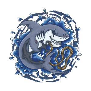 Hai mit Anker