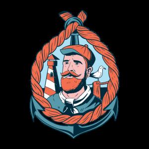 Segler mit Bart