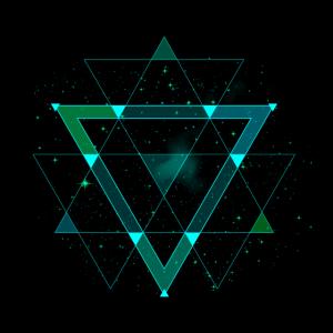 Abstrakt Geometrie Dreieck