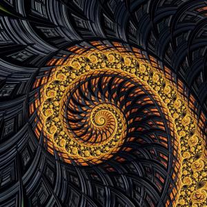Fraktal Muster Ornamente Fibonacci Spirale bunte