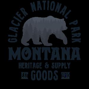 Glacier National Park Shirt Frauen Männer Bärenwald