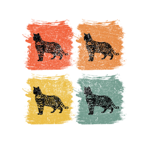 Bengal Katze Retro Pop Art
