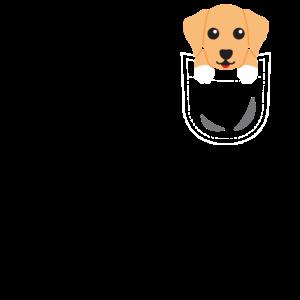 Labrador Tasche Hund Pocket Animals T-Shirt