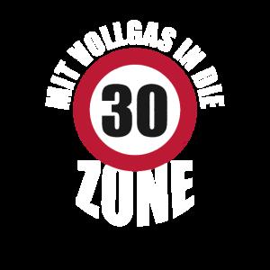 Geburtstagsgeschenk Vollgas 30 Jahre Autofahrer Tu