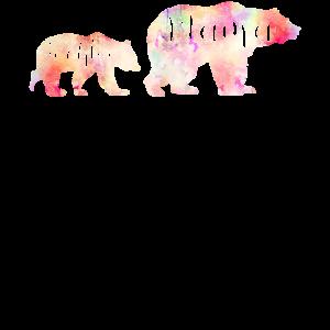 Mama Tochter Bären Design Geschenk Mutter Kinder