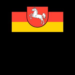 Niedersachsen Logo Flagge Wappen Fahne Geschenk