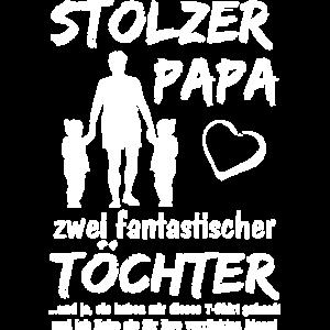 Stolzer Papa zwei Töchter