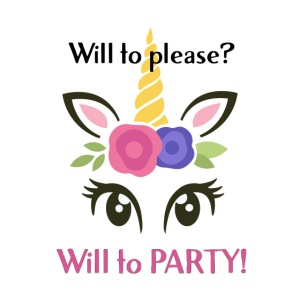 will to PARTY unicorn