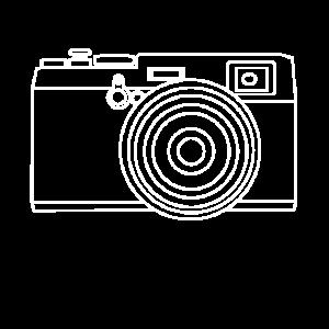 Retro Kamera Line-Art Design