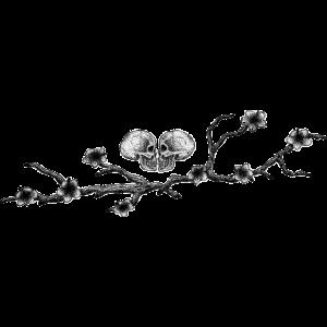 Schädel und Blumen