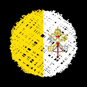 Vatikanstadt flaggen Fasern Patch