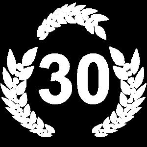 30 lorbeerkranz, geburtstagsgeschenk 30