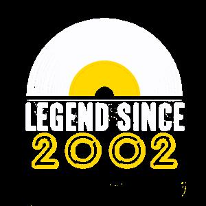 Geschenk Legende seit 2002 Geburtstag Schallplatte