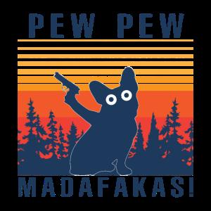 Französische Bulldogge Pew Pew Madafakas
