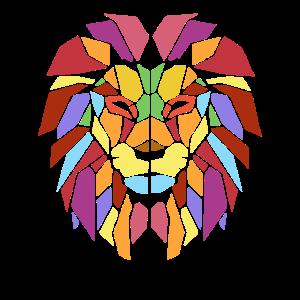 Cool Trendy Lion Geometric African Animal