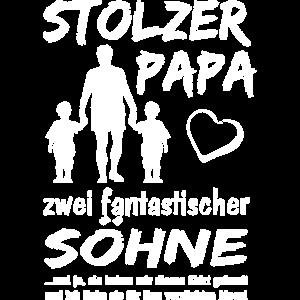 Stolzer Papa zwei Söhne