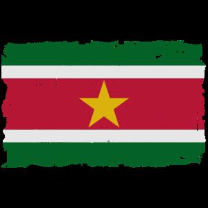 Flag of Suriname - Suriname Flagge - shabby look