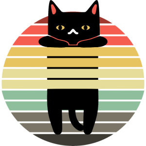 Retro Katze hängend Leonie Kira - Geschenkidee