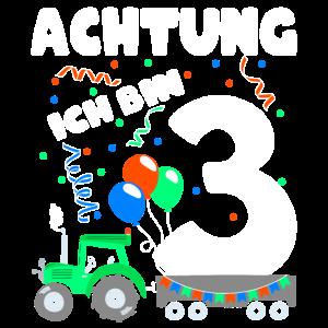 dritter Geburtstag 3 Trecker Geschenk