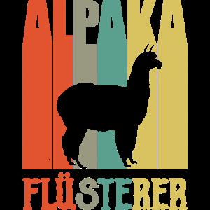 Alpaka Flüsterer Lama Retro Geschenk