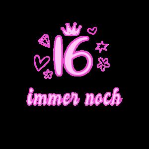 16 Geburtstag 16 Jahre Sechzehn Geschenk Mädchen