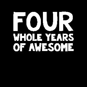Kinder vierten Geburtstagsjunge, 4 Jahre alter Geburtstag